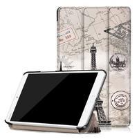 Emotive PU kožené pouzdro na Huawei MediaPad M3 8.4 - Eiffelova věž