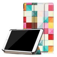 Emotive PU kožené pouzdro na Huawei MediaPad M3 8.4 - barevné kostky