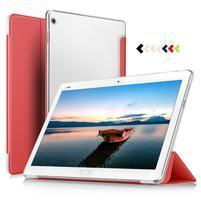 Trojpolohové klopové puzdro na Huawei MediaPad M3 Lite 10 - červené