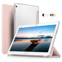 Trojpolohové klopové puzdro na Huawei MediaPad M3 Lite 10 - rosegold