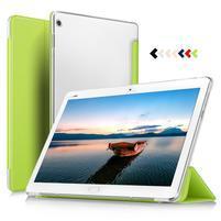 Trojpolohové klopové puzdro na Huawei MediaPad M3 Lite 10 - zelené