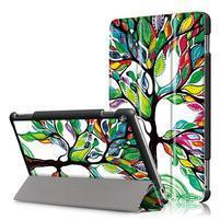 Emotive polohovatelné pouzdro na Huawei MediaPad M3 Lite 10 - malovaný strom