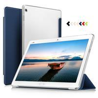 Trojpolohové klopové puzdro na Huawei MediaPad M3 Lite 10 - modré
