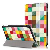 Emotive polohovatelné pouzdro na Huawei MediaPad M3 Lite 10 - barevné čtverečky