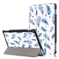 Emotive polohovatelné pouzdro na Huawei MediaPad M3 Lite 10 - peříčka