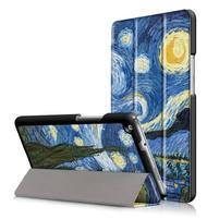 Emotive polohovatelné pouzdro na Huawei MediaPad M3 Lite 8.0 - malovaná noc