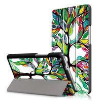 Emotive polohovatelné pouzdro na Huawei MediaPad M3 Lite 8.0 - malovaný strom