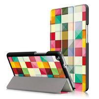 Emotive polohovatelné pouzdro na Huawei MediaPad M3 Lite 8.0 - barevné čtverečky