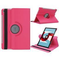 Litchi PU kožené pouzdro na Huawei MediaPad M5 10 - rose