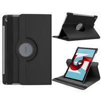 Litchi PU kožené pouzdro na Huawei MediaPad M5 10 - černé