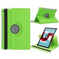 Litchi PU kožené pouzdro na Huawei MediaPad M5 10 - zelené