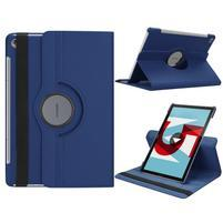 Litchi PU kožené pouzdro na Huawei MediaPad M5 10 - tmavě modré