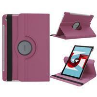 Litchi PU kožené pouzdro na Huawei MediaPad M5 10 - fialové