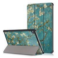 Emotive PU kožené pouzdro na Huawei MediaPad M5 10 - kvetoucí větve