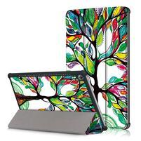 Emotive PU kožené pouzdro na Huawei MediaPad M5 10 - barevný strom