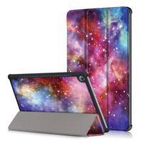 Emotive PU kožené pouzdro na Huawei MediaPad M5 10 - galaxie