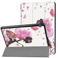 Patty PU kožené zapínací pouzdro na Huawei MediaPad T3 10.0 - víla