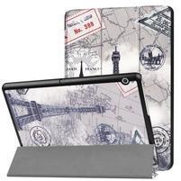 Patty PU kožené zapínací pouzdro na Huawei MediaPad T3 10.0 - Eiffelova věž