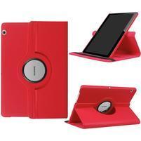 Otočné PU kožené pouzdro na Huawei MediaPad T3 10.0 - červené