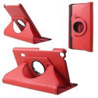 Rotate PU kožené pouzdro na tablet Huawei MediaPad T3 7.0 - červené