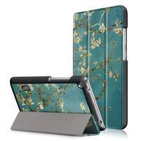 Patty PU kožené pouzdro na tablet Huawei MediaPad T3 7.0 - rozkvetlé větve
