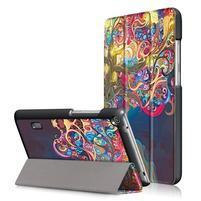 Patty PU kožené pouzdro na tablet Huawei MediaPad T3 7.0 - svůdný strom