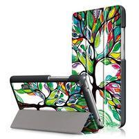 Patty PU kožené pouzdro na tablet Huawei MediaPad T3 7.0 - malovaný strom
