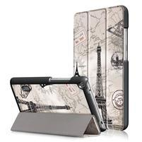 Patty PU kožené pouzdro na tablet Huawei MediaPad T3 7.0 - Eiffelova věž