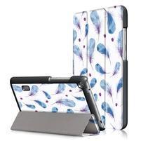 Patty PU kožené pouzdro na tablet Huawei MediaPad T3 7.0 - pírka