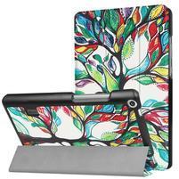Printy PU kožené pouzdro na tablet Huawei MediaPad T3 7.0 - malovaný strom
