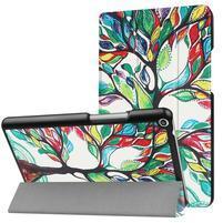 Emotive PU kožené pouzdro na Huawei MediaPad T3 8.0 - malovaný strom