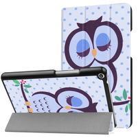 Emotive PU kožené pouzdro na Huawei MediaPad T3 8.0 - sovička
