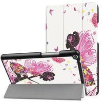 Emotive PU kožené pouzdro na Huawei MediaPad T3 8.0 - motýlí víla