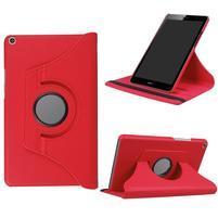Cyrcle 360° PU kožené pouzdro na Huawei MediaPad T3 8.0 - červené