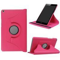 Cyrcle 360° PU kožené pouzdro na Huawei MediaPad T3 8.0 - rose