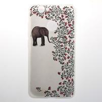 Transparent gelový obal s motivem na Huawei Nova - slon