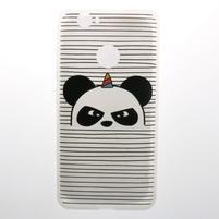Transparent gelový obal s motivem na Huawei Nova - panda