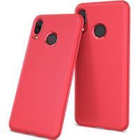 Texture odolný gelový obal na mobil Huawei Nova 3 - červený