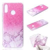 Patt silikonový obal pro Huawei Nova 3 - růžový mramor