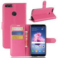 Wallet PU kožené pouzdro na Huawei P Smart - rose