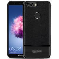 Broušený odolný gelový obal na Huawei P Smart - černý