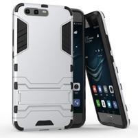 Defender odolný obal na mobil Huawei P10 - stříbrný