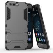 Defender odolný obal na mobil Huawei P10 - šedý