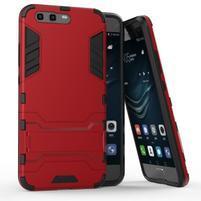 Defender odolný obal na mobil Huawei P10 - červený