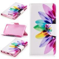 Emotive PU kožené pouzdro na mobil Huawei P10 - barevný květ
