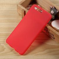 Matný gelový obal na mobil Huawei P10 - červený