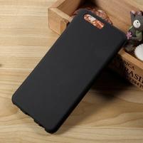 Matný gelový obal na mobil Huawei P10 - černý