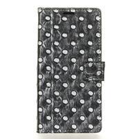 Arts PU kožené knížkové pouzdro na mobil Huawei P10 - černé