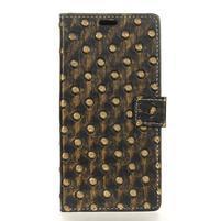 Arts PU kožené knížkové pouzdro na mobil Huawei P10 - zlaté