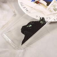 Emotive tenký gelový obal obal na mobil Huawei P10 - černá kočka